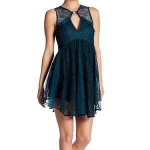 NWT Free People Don't You Dare Lace Shift Dress